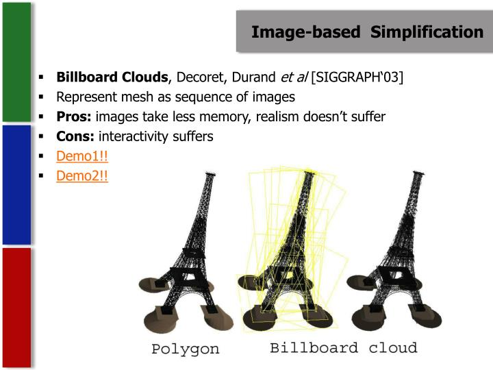 Image-based  Simplification