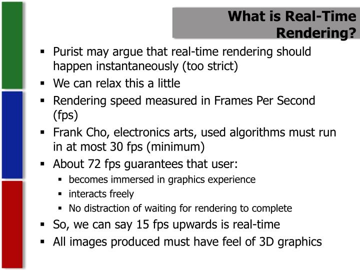 What is Real-Time Rendering?