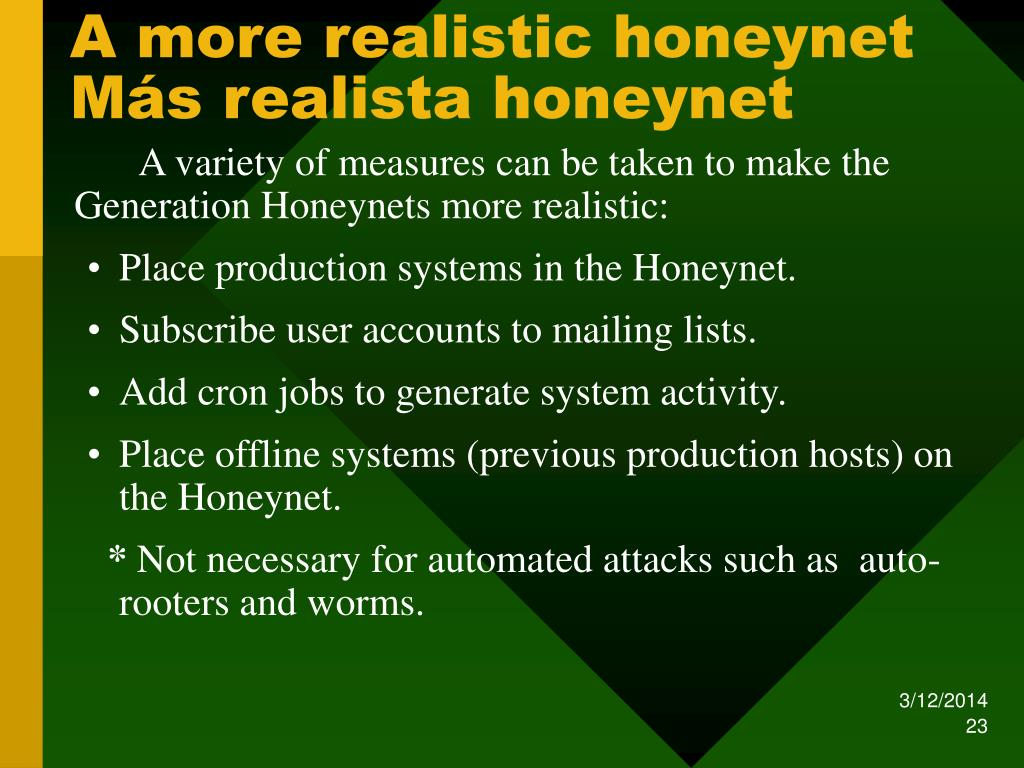 A more realistic honeynet