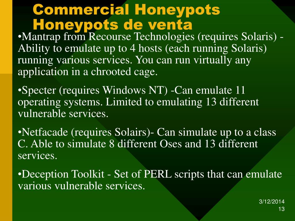 Commercial Honeypots