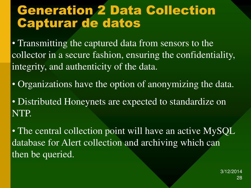 Generation 2 Data Collection