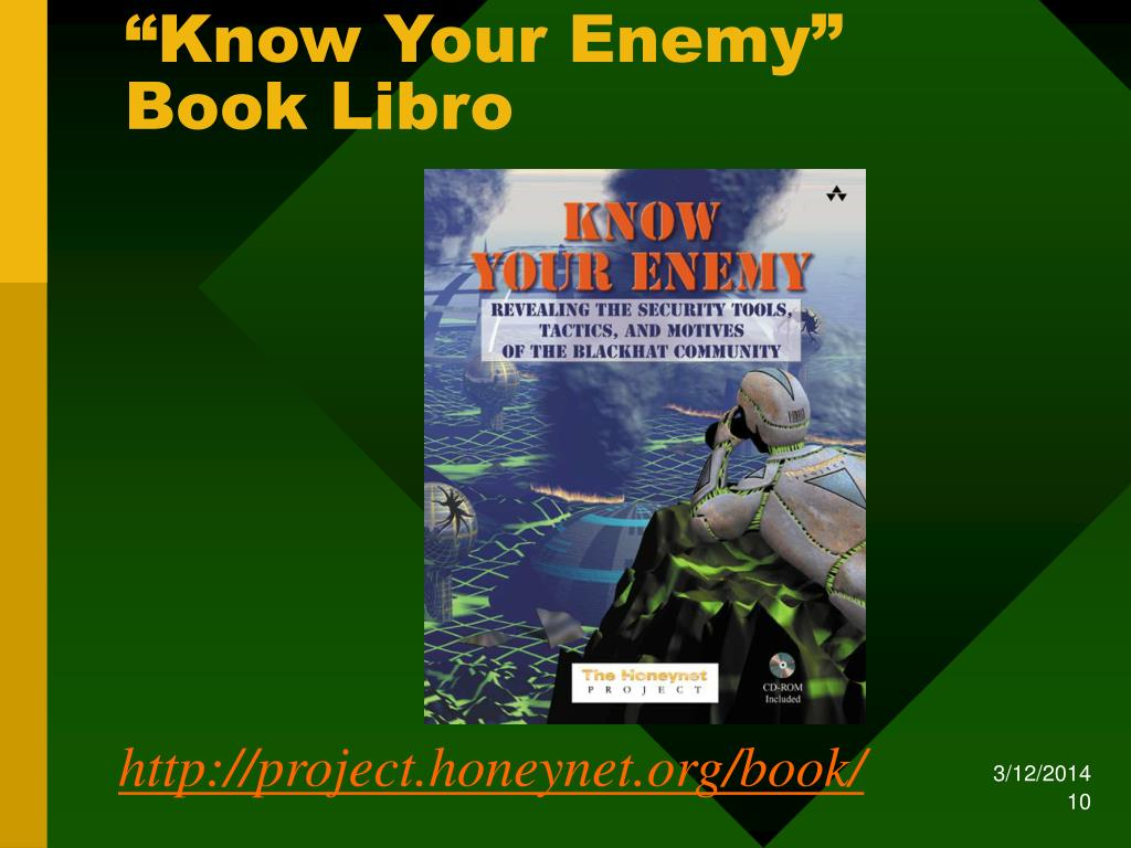 """Know Your Enemy"" Book Libro"