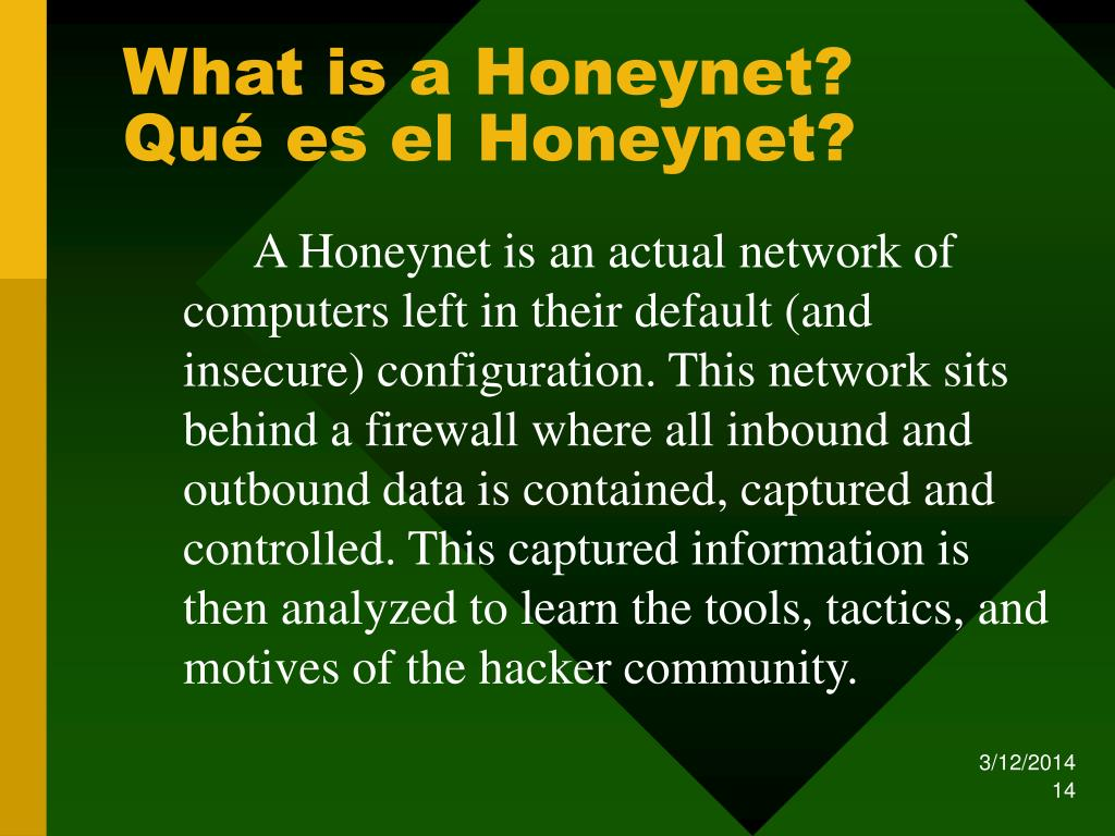 What is a Honeynet?