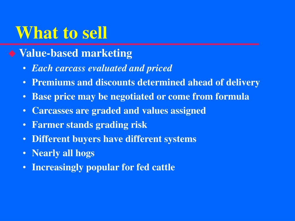 What to sell