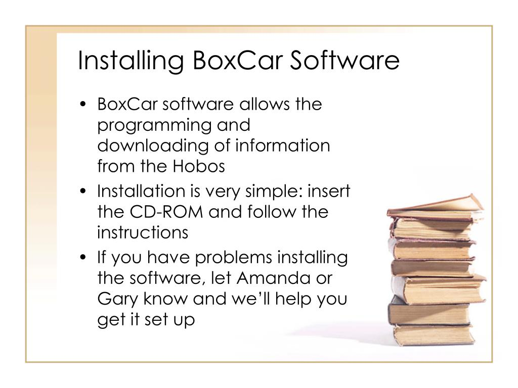 Installing BoxCar Software