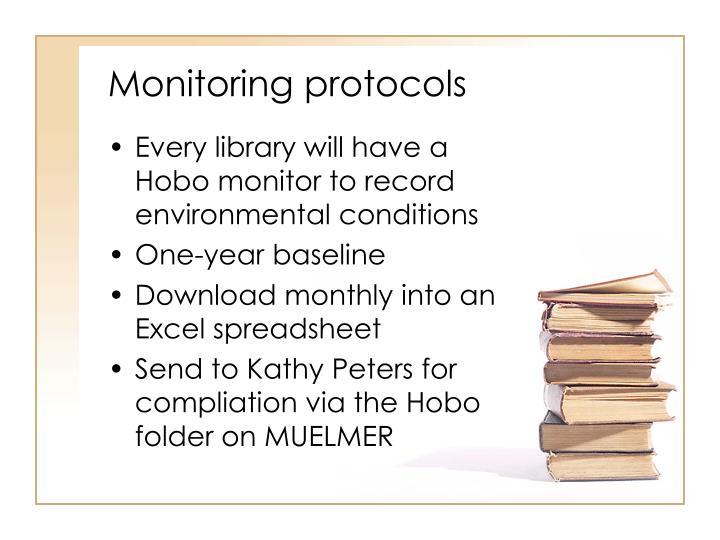 Monitoring protocols