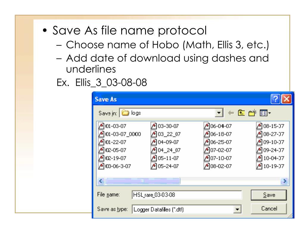 Save As file name protocol