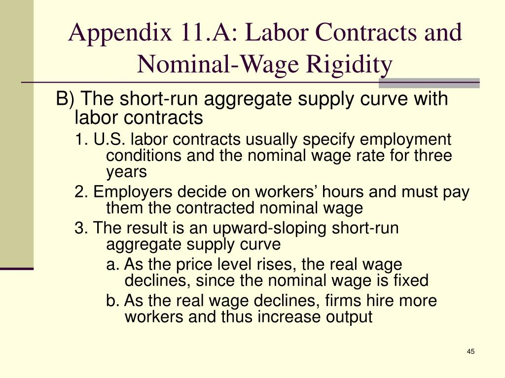 Appendix 11.A: Labor Contracts and Nominal-Wage Rigidity