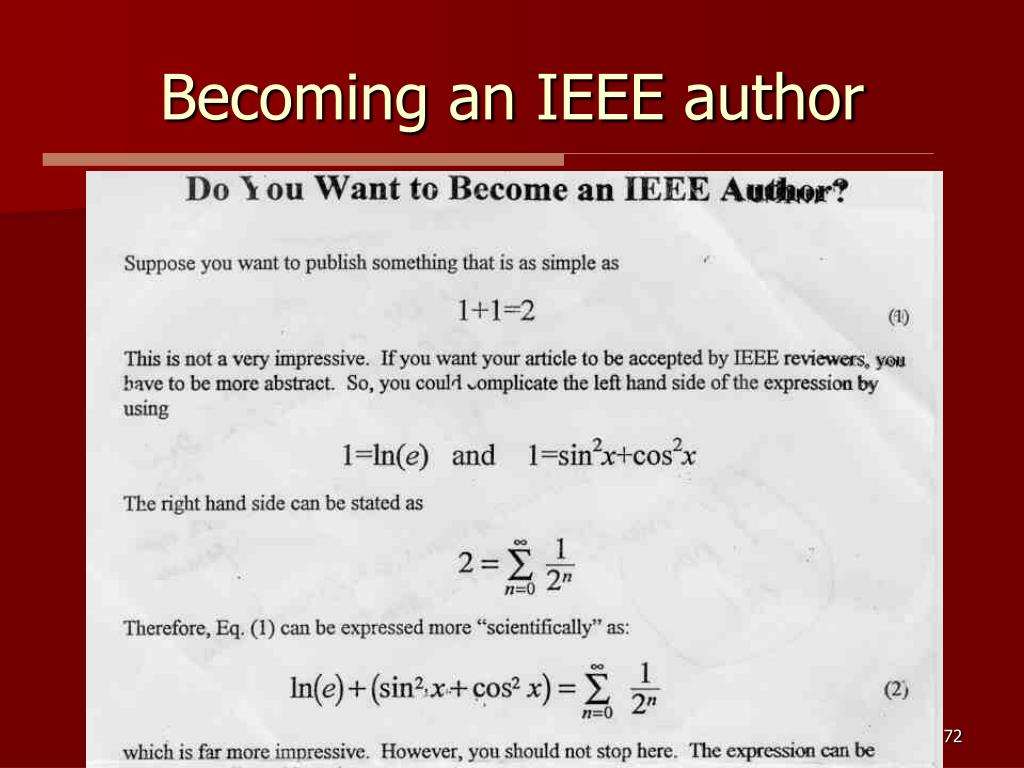 Becoming an IEEE author