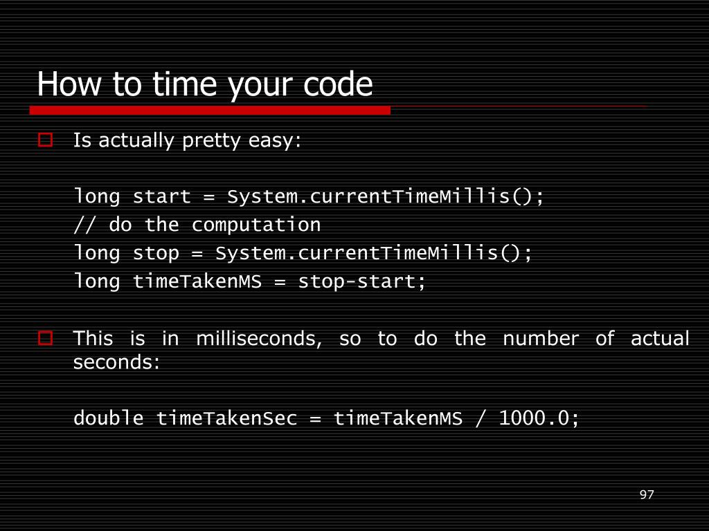 How to time your code