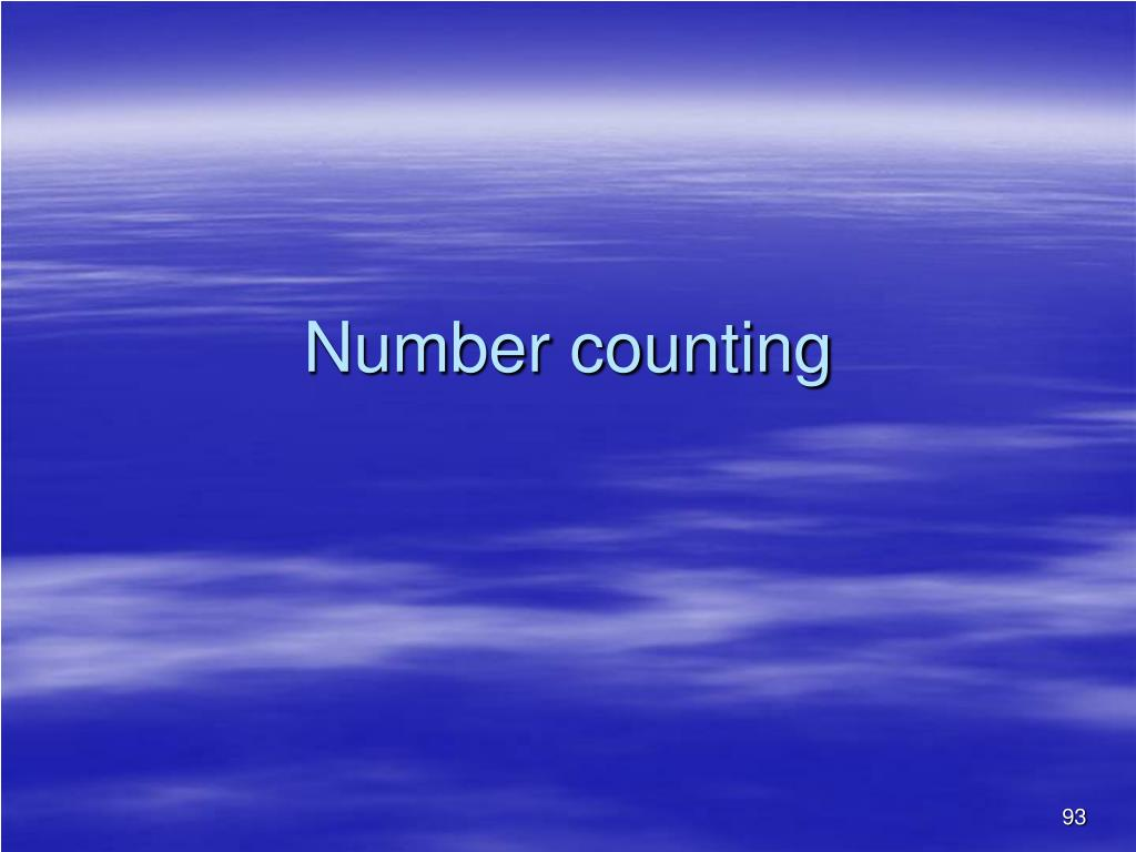 Number counting