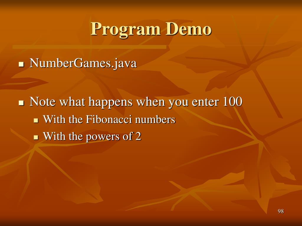 Program Demo