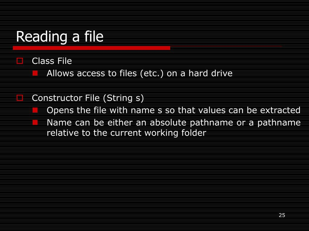 Reading a file