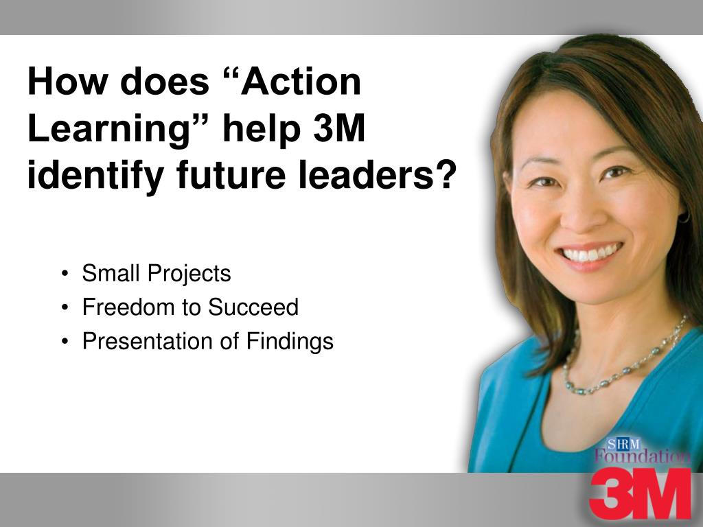 """How does """"Action Learning"""" help 3M identify future leaders?"""