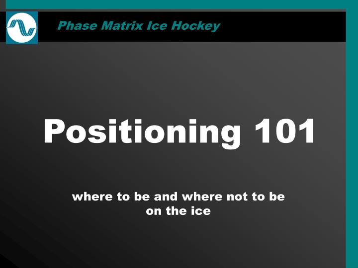 Phase Matrix Ice Hockey