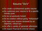 resume do s