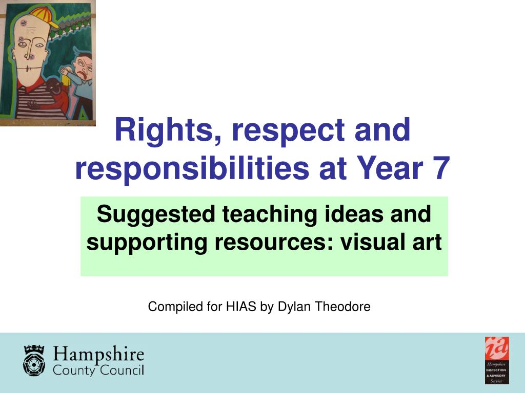 Rights, respect and responsibilities at Year 7