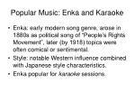 popular music enka and karaoke