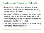 psychometric properties reliability