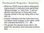 psychometric properties sensitivity