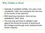 why validity is hard