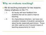why we evaluate teaching