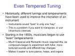 even tempered tuning