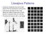 lissajous patterns