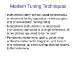modern tuning techniques