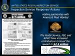 inspection service response actions