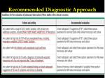 recommended diagnostic approach