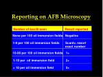 reporting on afb microscopy