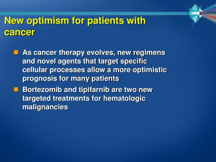 New optimism for patients with cancer