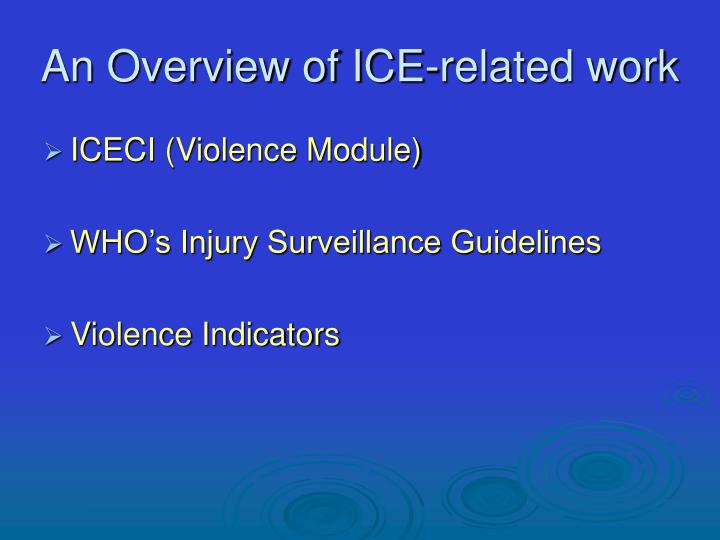 An overview of ice related work