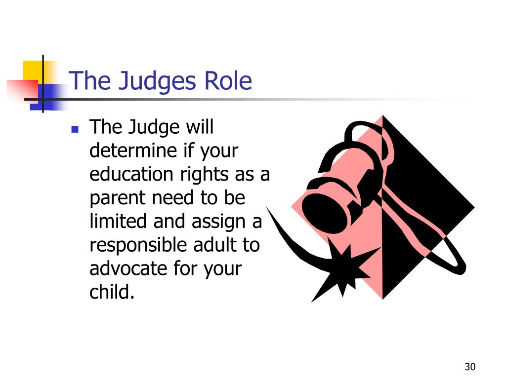 The Judges Role