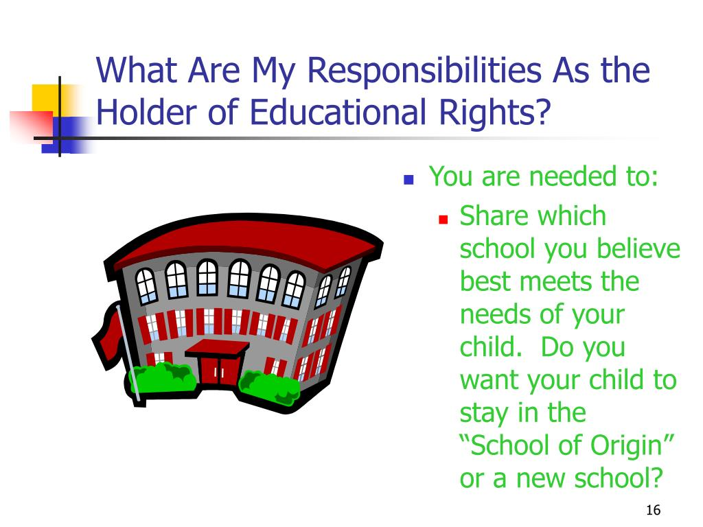 What Are My Responsibilities As the Holder of Educational Rights?