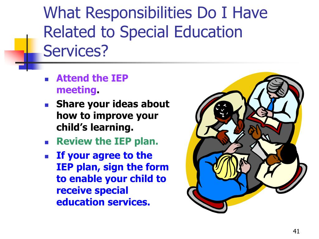 What Responsibilities Do I Have Related to Special Education Services?