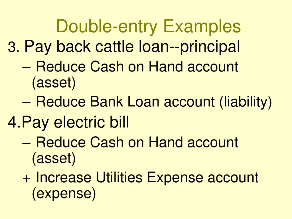 Double-entry Examples