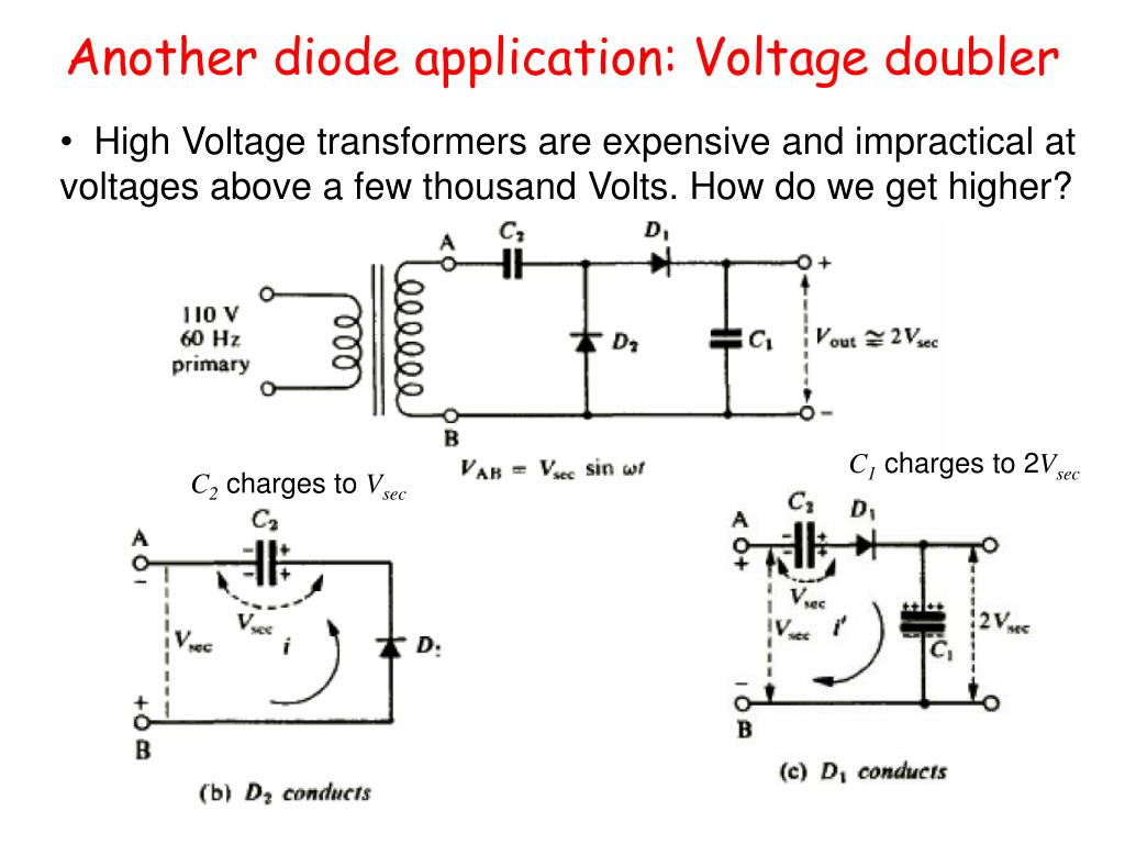 Another diode application: Voltage doubler