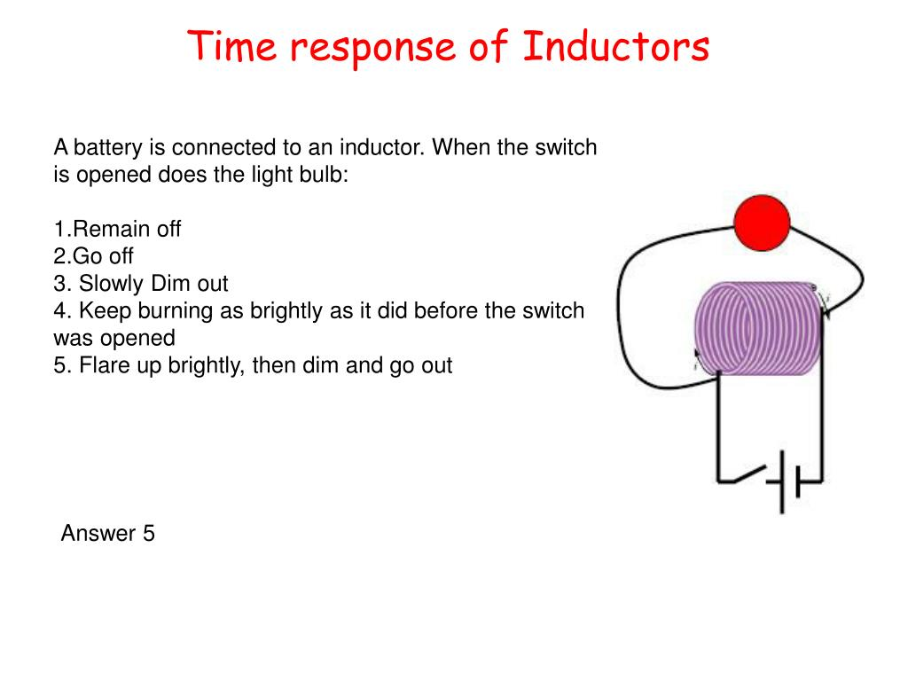 Time response of Inductors