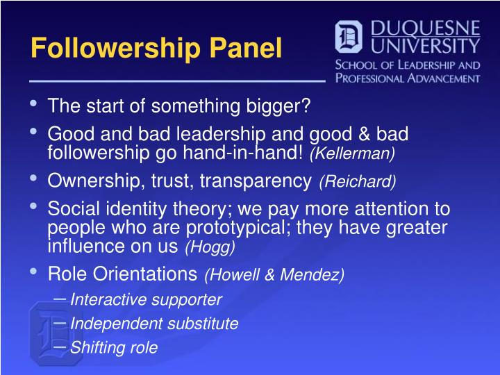Followership Panel