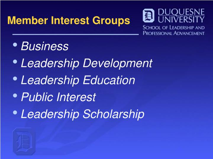 Member interest groups