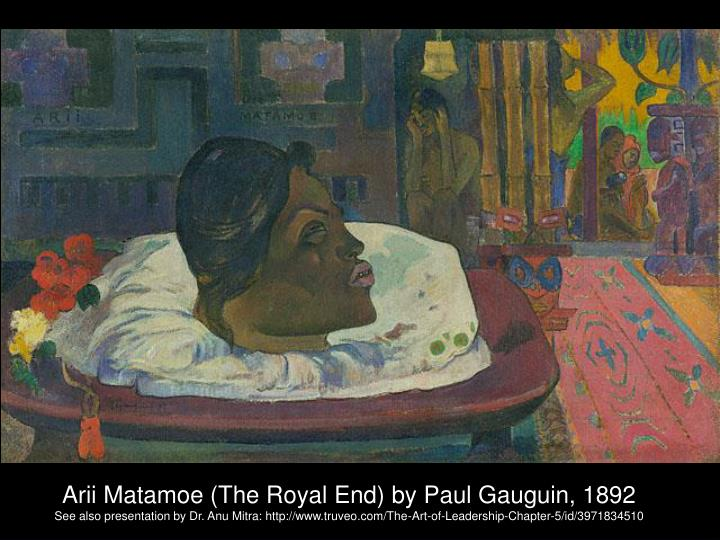 Arii Matamoe (The Royal End) by Paul Gauguin, 1892