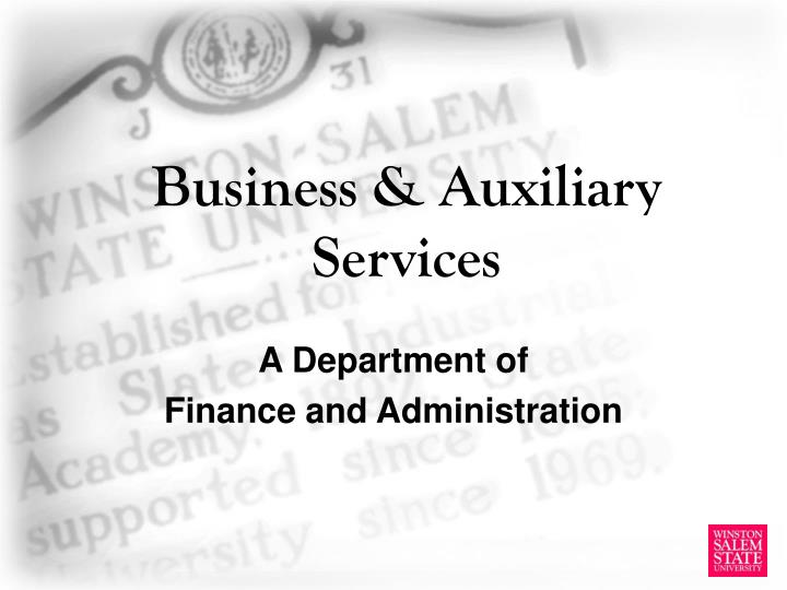business auxiliary services n.