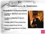 conferences institutes