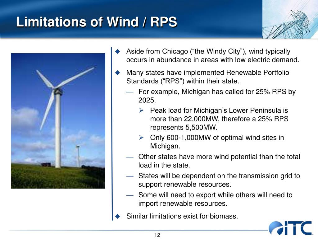 Limitations of Wind / RPS