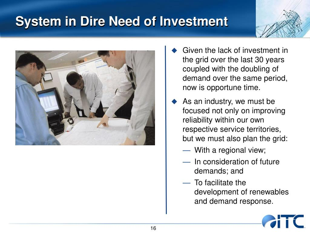 System in Dire Need of Investment