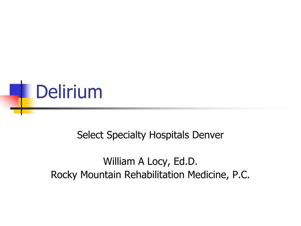 delirium l.