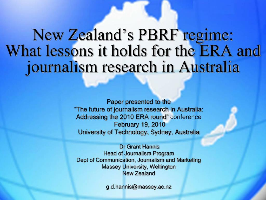 new zealand s pbrf regime what lessons it holds for the era and journalism research in australia