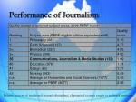 performance of journalism